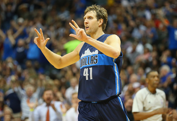 Power forward Dirk Nowitzki is leading Dallas with an average of 17.6 points per game (credit: Ronald Martinez/Getty Images)
