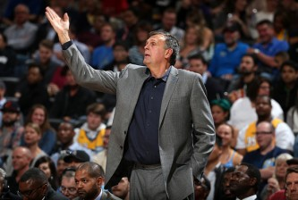 DENVER, CO - NOVEMBER 13:  Head coach Kevin McHale of the Houston Rockets leads his team against the Denver Nuggets at Pepsi Center on November 13, 2015 in Denver, Colorado. The Nuggets defeated the Rockets 107-98. NOTE TO USER: User expressly acknowledges and agrees that, by downloading and or using this photograph, User is consenting to the terms and conditions of the Getty Images License Agreement.  (Photo by Doug Pensinger/Getty Images)