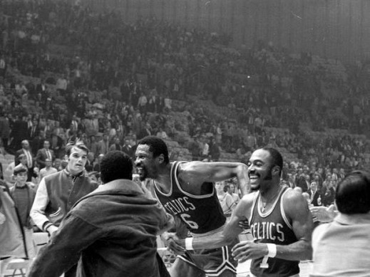 Bill Russell authored the perfect NBA walk-off