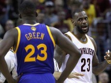 LeBron James and Draymond Green