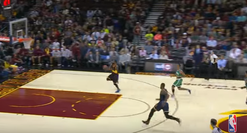 Watch: Kyrie throws alley-oop off backboard to LeBron ...