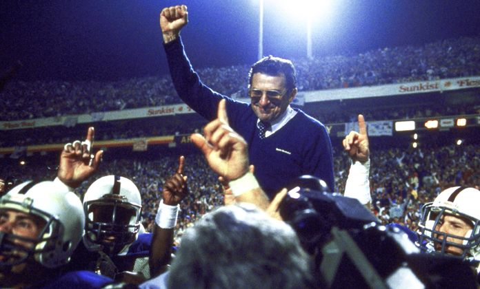 1987 Fiesta Bowl, Joe Paterno.
