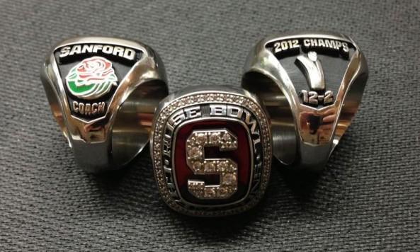 Stanford Rose Bowl rings