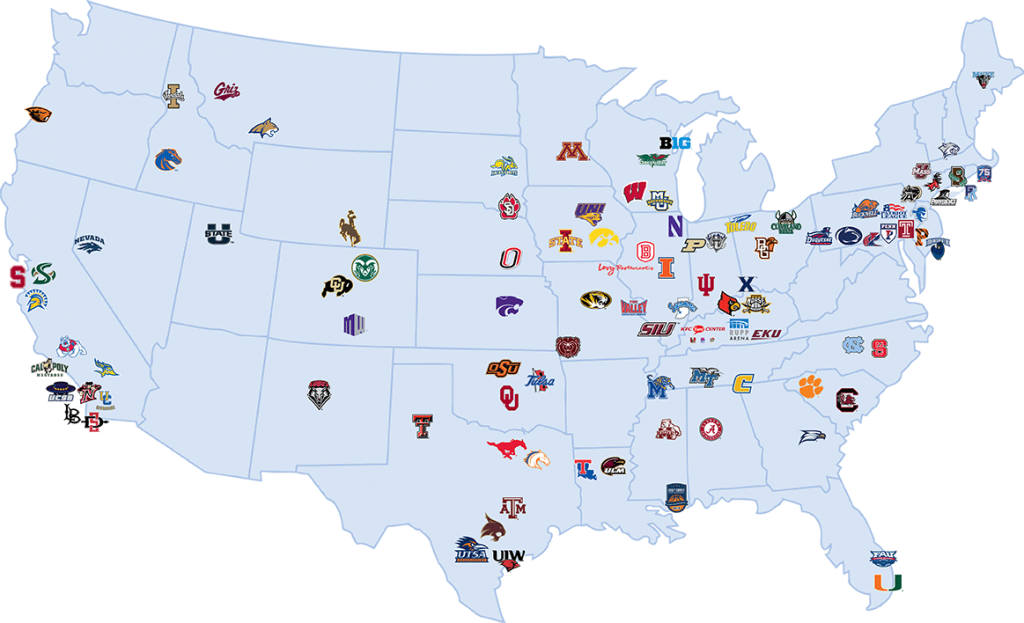 Learfield Sports partners. Source: Learfield Sports