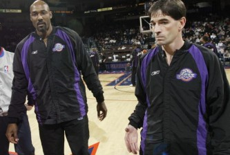 Malone and Stockton pre-game