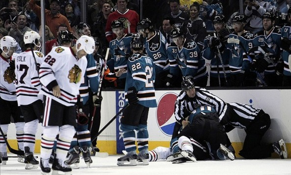 blackhawks sharks mayers desjardins