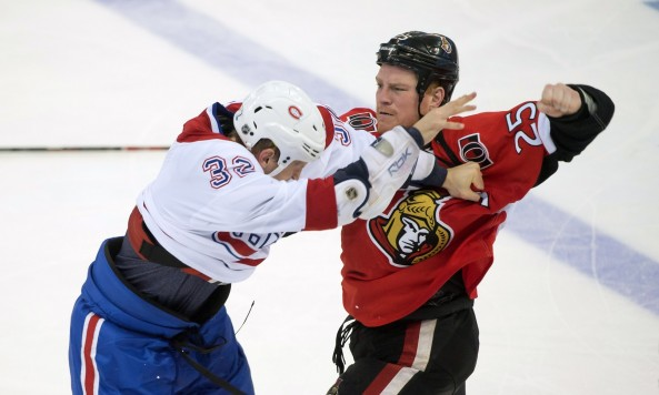 CanadiensSenatorsBrawl