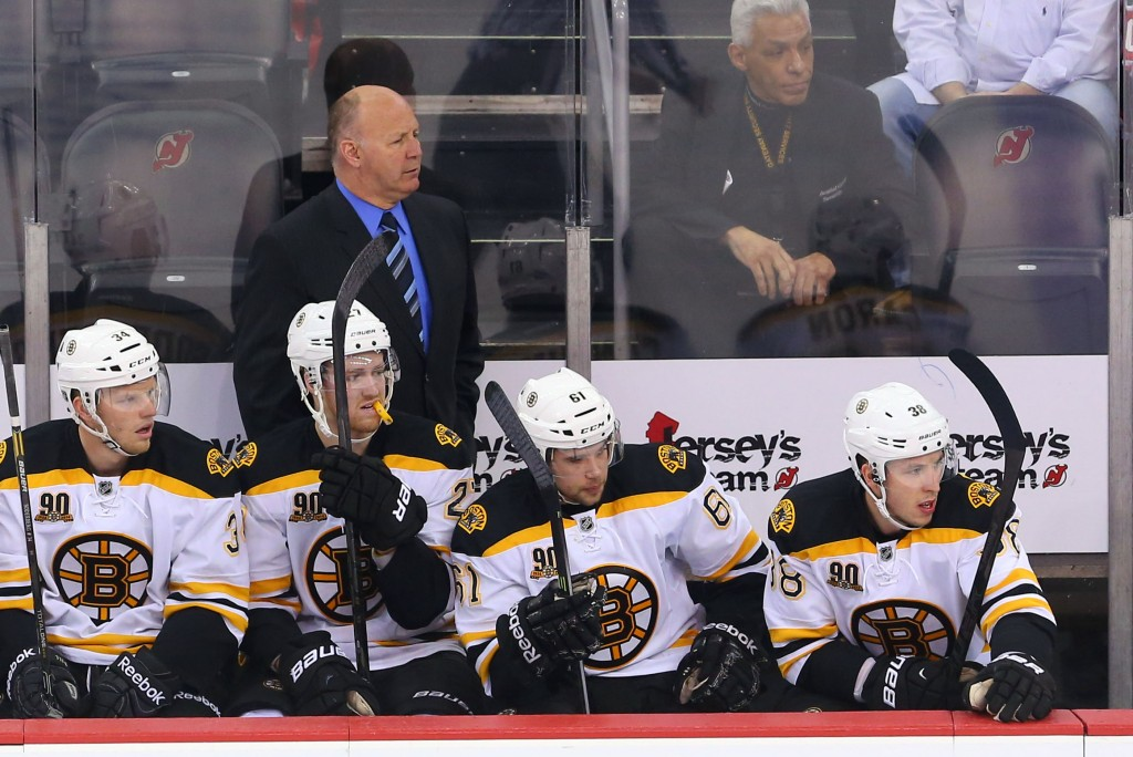 NHL: Boston Bruins at New Jersey Devils