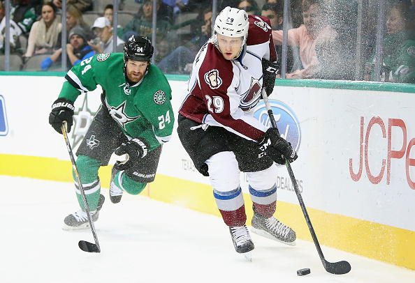 in the second period at American Airlines Center on February 27, 2015 in Dallas, Texas.