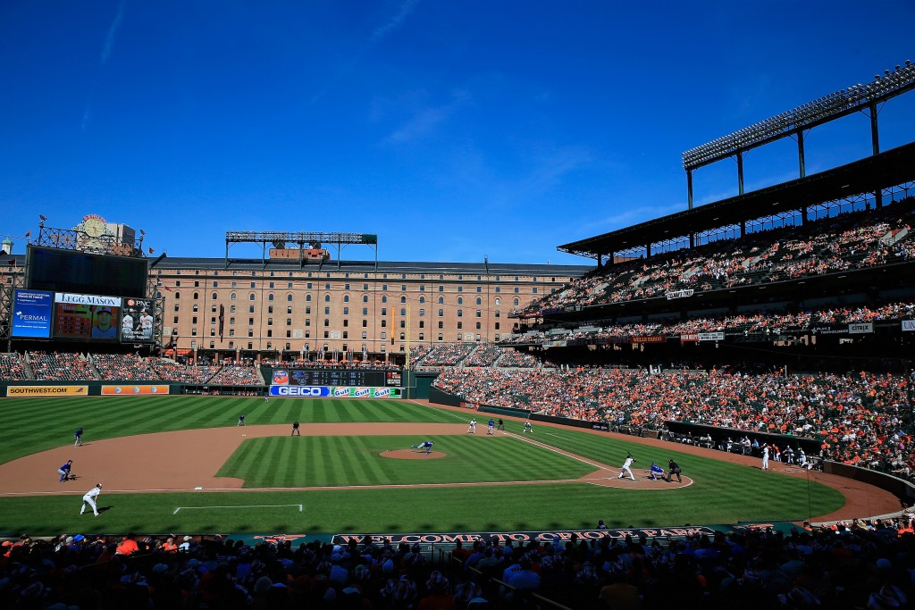BALTIMORE, MD - JUNE 15:  A general view of the Baltimore Orioles and Toronto Blue Jays game at Oriole Park at Camden Yards on June 15, 2014 in Baltimore, Maryland.  (Photo by Rob Carr/Getty Images)