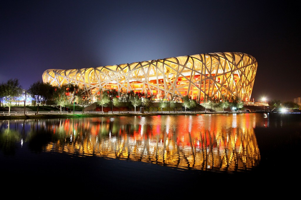 BEIJING - NOVEMBER 02:  A general view of the Race of Champions Beijing 2009 at Beijing National Stadium on November 2, 2009 in Beijing, China.  (Photo by Feng Li/Getty Images)