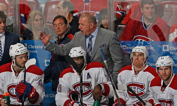 SUNRISE, FL - DECEMBER 29: Head coach Michel Therrien of the Montreal Canadiens reacts to third period action against the Florida Panthers at the BB&T Center on December 29, 2015 in Sunrise, Florida. The Panthers defeated the Canadiens 3-1. (Photo by Joel Auerbach/Getty Images)