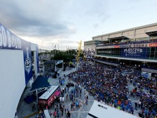 during Game One of the 2015 NHL Stanley Cup Final at Amalie Arena on June 3, 2015 in Tampa, Florida.