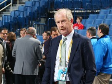 BUFFALO, NY - JUNE 24:  Dallas Stars General Manager Jim Nill is pictured during round one of the 2016 NHL Draft on June 24, 2016 in Buffalo, New York.  (Photo by Bruce Bennett/Getty Images)