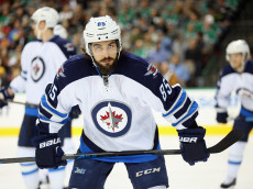 DALLAS, TX - JANUARY 15:  Mathieu Perreault #85 of the Winnipeg Jets during the first period against the Dallas Stars at American Airlines Center on January 15, 2015 in Dallas, Texas.  (Photo by Ronald Martinez/Getty Images)