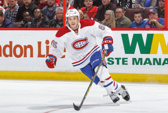 OTTAWA, CANADA - OCTOBER 15: Andrew Shaw #65 of the Montreal Canadiens skates against the Ottawa Senators in an NHL game at Canadian Tire Centre on October 15, 2016 in Ottawa, Ontario, Canada.  (Photo by Francois Laplante/Freestyle Photography/Getty Images)