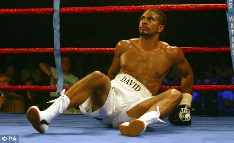 david haye knocked down
