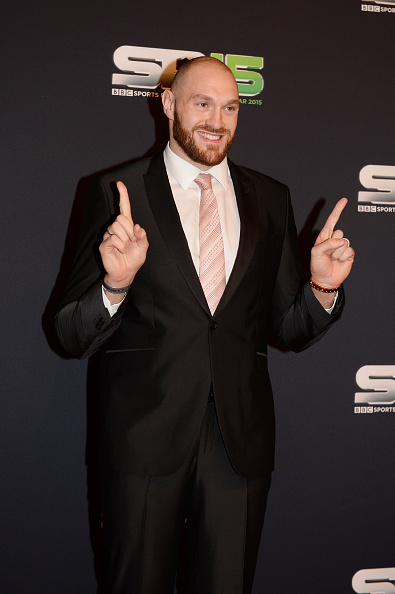 Tyson Fury on the red carpet before the BBC Sports Personality of the Year award at Odyssey Arena on Dec. 20 in Belfast, Northern Ireland; Photo, Carrie Davenport/Getty Images