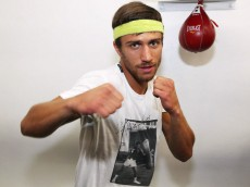 """Nov 2, 2015, Oxnard , Ca.  ---   Two-time Ukrainian Olympic gold medalist VASYL LOMACHENKO works out during media day Monday in Oxnard,Calif for his upcoming world title defense.  LOMACHENKO, defending his WBO featherweight world title against Top-10 world-rated contender ROMULO KOASICHA of Mexico,  will open the HBO telecast featuring the Timothy """"Desert Storm"""" Bradley Jr. vs Brandon Rios WBO Welterweight world championship fight, Saturday, Nov. 7, at the Thomas & Mack Center in Las Vegas.    Promoted by Top Rank®, in association with the Wynn Las Vegas and Tecate, remaining tickets to the Bradley vs. Rios event, priced at $400, $250, $150, $100 and $50, may be purchased at the Thomas & Mack Center Box Office, online at www.UNLVtickets.com, at UNLVtickets Outlet Town Square Las Vegas and La Bonita Supermarkets.  To charge by phone call 702-739-FANS (3267) or 866-388-FANS (3267).          --- Photo Credit : Chris Farina - Top Rank (no other credit allowed) copyright 2015"""