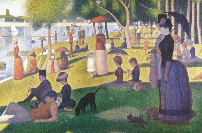 "Georges-Pierre Seurat, ""A Sunday Afternoon on the Island of La Grande Jatte"""