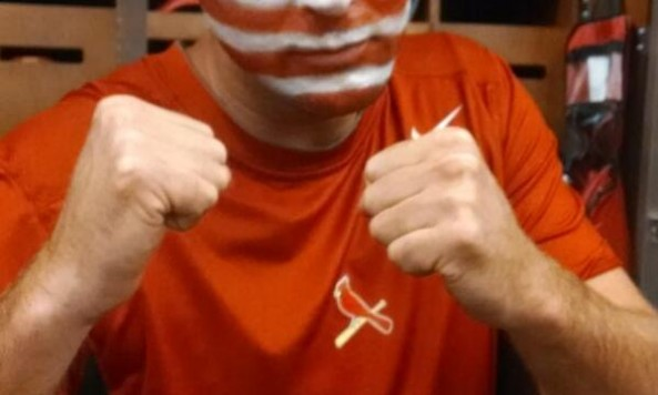 Adam Wainwright facepaint