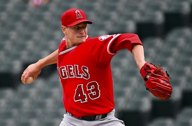 Garrett Richards of the Angels