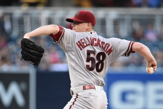 SAN DIEGO, CA - SEPTEMBER 26:  Jeremy Hellickson #58 of the Arizona Diamondbacks pitches during the first inning of a baseball game against the San Diego Padres at Petco Park September 26, 2015 in San Diego, California.  (Photo by Denis Poroy/Getty Images)