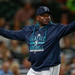 SEATTLE, WA - SEPTEMBER 09:  Manager Lloyd McClendon #21 of the Seattle Mariners gestures as he asks for a replay review after Robinson Chirinos of the Texas Rangers was hit by a pitch in the fifth inning at Safeco Field on September 9, 2015 in Seattle, Washington. The call stood and Chirinos was awarded first base on the play.  (Photo by Otto Greule Jr/Getty Images) *** Local Caption *** Lloyd McClendon