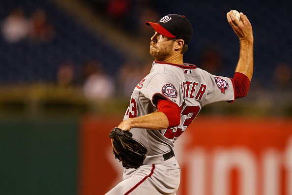 PHILADELPHIA, PA - SEPTEMBER 14: Doug Fister #33 of the Washington Nationals throws a pitch in the eleventh inning of the game against the Philadelphia Phillies at Citizens Bank Park on September 14, 2015 in Philadelphia, Pennsylvania. The Nationals won 8-7 in the eleventh inning. (Photo by Brian Garfinkel/Getty Images)  *** Local Caption *** Doug Fister