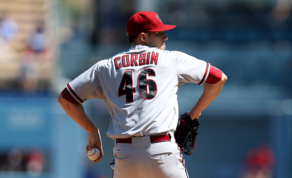 LOS ANGELES, CA - SEPTEMBER 24:  Patrick Corbin #46 of the Arizona Diamondbacks throws a pitch against the Los Angeles Dodgers at Dodger Stadium on September 24, 2015 in Los Angeles, California.  (Photo by Stephen Dunn/Getty Images)