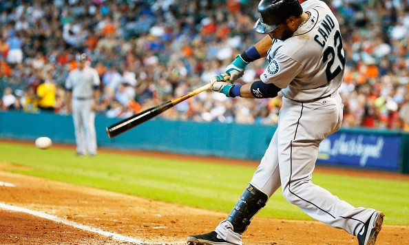 HOUSTON, TX - SEPTEMBER 21:  Robinson Cano #22 of the Seattle Mariners swings at a pitch during the sixth inning against the Houston Astros during their game at Minute Maid Park on September 21, 2014 in Houston, Texas.  (Photo by Scott Halleran/Getty Images)