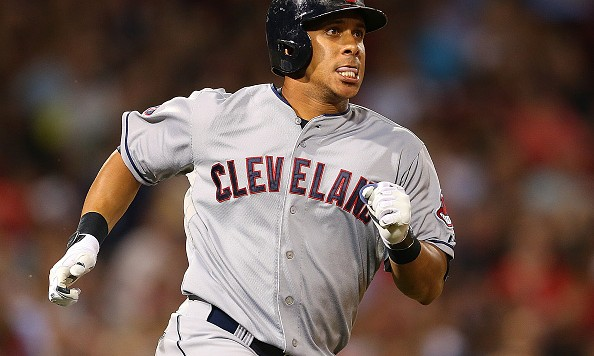 BOSTON, MA - AUGUST 18:  Michael Brantley #23 of the Cleveland Indians rounds the bases after he hit a home run against the Boston Red Sox running in the seventh inning at Fenway Park on August 18, 2015 in Boston, Massachusetts.  (Photo by Jim Rogash/Getty Images)