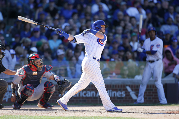 CHICAGO, IL - SEPTEMBER 20: Tommy La Stella #11 of the Chicago Cubs bats during the sixth inning against the St. Louis Cardinals at Wrigley Field on September 20, 2015 in Chicago, Illinois. The Cardinals defeated the Cubs 4-3. (Photo by John Konstantaras/Getty Images)