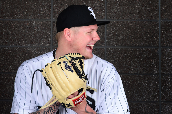 GLENDALE, AZ - FEBRUARY 27:  Pitcher Mat Latos #38 of the Chicago White Sox poses for a portrait during spring training photo day at Camelback Ranch on February 27, 2016 in Glendale, Arizona.  (Photo by Jennifer Stewart/Getty Images)