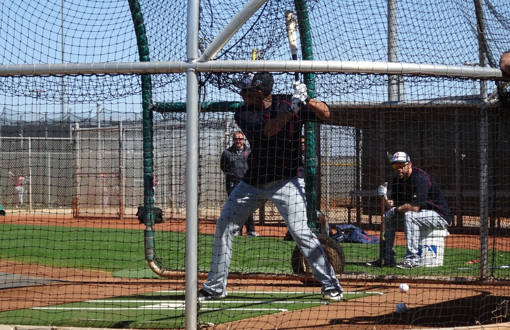 Brantley takes batting practice in Goodyear, AZ. - Joseph Coblitz, BurningRiverBaseball