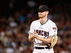 PHOENIX, AZ - MAY 13:  Starting pitcher Shelby Miller #26 of the Arizona Diamondbacks reacts after giving up a three-run home run to Joe Panik (not pictured) of the San Francisco Giants during the sixth inning of the MLB game at Chase Field on May 13, 2016 in Phoenix, Arizona.  (Photo by Christian Petersen/Getty Images)