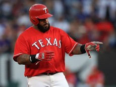 ARLINGTON, TX - APRIL 30:  Prince Fielder #84 of the Texas Rangers at Globe Life Park in Arlington on April 30, 2016 in Arlington, Texas.  (Photo by Ronald Martinez/Getty Images)