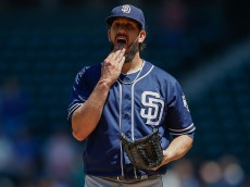 SEATTLE, WA - MAY 31:  Starting pitcher James Shields #33 of the San Diego Padres pauses on the mound after giving up a three-run homer to Kyle Seager of the Seattle Mariners in the second inning at Safeco Field on May 31, 2016 in Seattle, Washington.  (Photo by Otto Greule Jr/Getty Images)