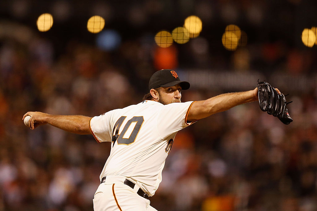 SAN FRANCISCO, CA - JUNE 14: Madison Bumgarner #40 of the San Francisco Giants pitches in the fifth inning against the Milwaukee Brewers at AT&T Park on June 14, 2016 in San Francisco, California. (Photo by Lachlan Cunningham/Getty Images)