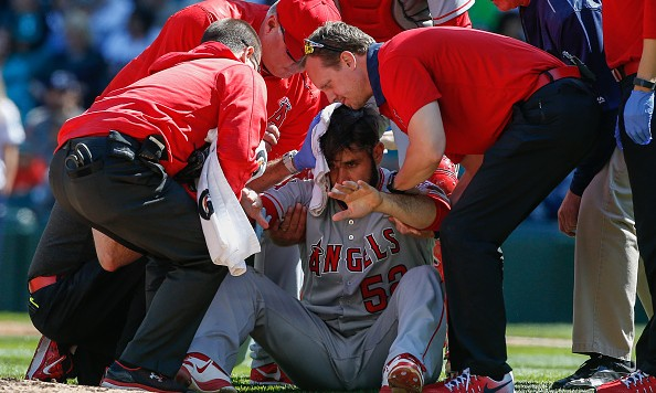 Angels pitcher Matt Shoemaker suffers skull fracture after line drive off head