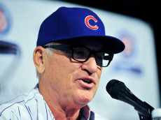 CHICAGO, IL - NOVEMBER 03:  The Chicago Cubs new manager Joe Maddon answers questions during a press conference at Wrigley Field on November 3, 2014 in Chicago, Illinois.  (Photo by David Banks/Getty Images)