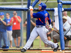 PORT ST. LUCIE, FL - SEPTEMBER 20: Tim Tebow #15 of the New York Mets hits a home run at an instructional league day at Tradition Field on September 20, 2016 in Port St. Lucie, Florida. (Photo by Rob Foldy/Getty Images)