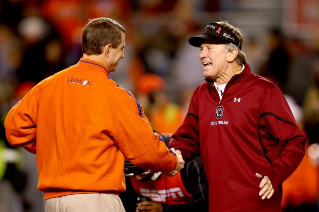 It's so easy to think that Steve Spurrier loathes Dabo Swinney and has no respect for him or Clemson University. Does Spurrier hate losing and a poor read by one of his quarterbacks? He and his visor tell you all you need to know. Does he hate his opponents and the people who represent them? The zingers and laugh lines are almost always meant in a spirit of fun... and it's that spirit of fun which has enabled Spurrier to last this long in the coaching business with a lot less of the strain that wears on so many of his contemporaries in college football.