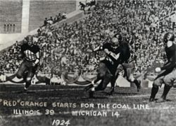 In a performance both stunning and transformational, Red Grange cemented his legend while also making college football come alive for many Americans at a relatively early point in the sport's existence.