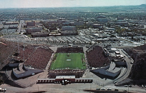 This is what Sun Devil Stadium once looked like...