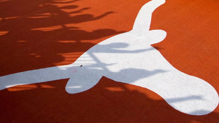 Texas logo in shadow