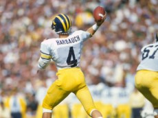 Can Jim Harbaugh be a success running the Michigan program he once played for?  (Photo by Focus on Sport/Getty Images)