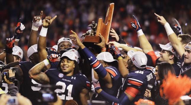 Auburn celebrate