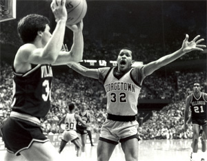 Horace Broadnax played on Georgetown's Final Four teams during the Hoyas' glory days in the 1980s. He now coaches at Savannah State. He's been with the Tigers for just over a decade, and he's been a head coach for nearly 20 seasons without an NCAA tournament appearance. Fire him? No, that's not how college basketball (often) works in its lower tiers... appropriately so.
