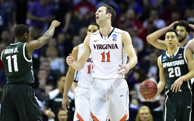 Virginia stayed close to home each of the past two NCAA tournaments -- once as a 1 seed, once as a 2 seed. Both times, UVA drew Michigan State before the Elite Eight and got bounced. The Cavaliers have been the unluckiest team the past two seasons in terms of their bracket path, even while their bracket locations have been extremely favorable.